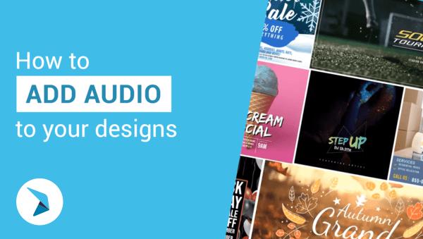 Cara menambahkan audio ke desain Anda